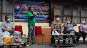Polres Pelabuhan Makassar Gelar Ngopi Bareng Bahas Penanganan Covid-19