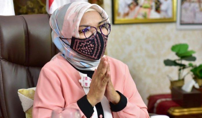 Ketua Tim Penggerak PKK Sulsel, Lies F Nurdin