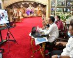 Gubernur Sulawesi Selatan (Sulsel) mengikuti video conference terkait Perkeretaapian Jalur Kereta Api Makassar – Parepare