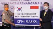 Indonesia Terima Bantuan 500 Ribu Masker dari Korea Selatan