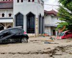 Banjir bandang yang menerjang Masamba Luwu Utara. (Foto: dok/ACT Sulsel)