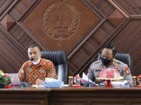 Rapat awal persiapan peringatan HUT RI ke-75, di Ruang Rapat Pimpinan Kantor Bupati Kepulauan Selayar, Kamis (16/7/2020).