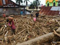 Banjir bandang di Masamba Luwu Utara, Sulawesi Selatan.