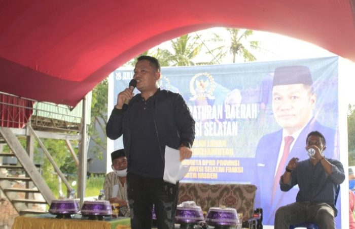 H. Irwan Kembali Sosialisasikan Perda Perlindungan Lahan Pertanian