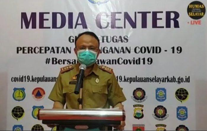Jubir Gugus Tugas Percepatan Penangan (GTPP) Covid-19 Kabupaten Kepulauan Selayar dr. Husaini, M. Kes.