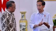 Gubernur Sulsel bersama Presiden Joko Widodo.