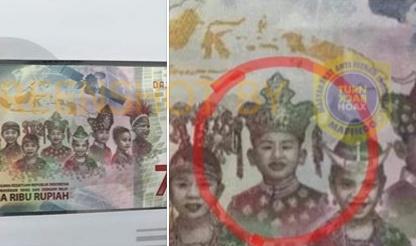 Hoax foto pakaian adat China di uang baru pecahan 75 ribu