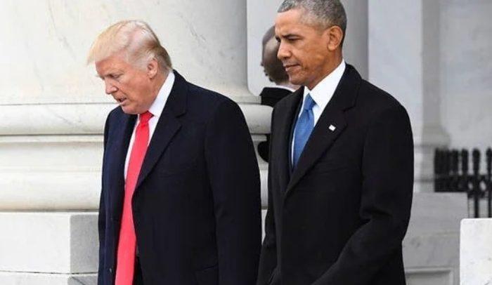 Donald Trump (Kiri) - Barack Obama (Kanan)