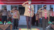 Ketua Kwartir Cabang Selayar Pimpin Apel Besar Hari Gerakan Pramuka Ke-59.