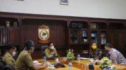 Pj Wali kota Makassar, Prof Rudy bertemu Mr Son Ha Dinh selaku Regional Coordinator Program Eastern Region International Organization for Migration (IOM) Indonesia di Balaikota Makassar, Selasa 25 Agustus 2020/ ist
