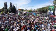 Puluhan ribu pendukung dan simpatisan pasangan Askar-Pipink saat melakukan deklarasi, di Bundaran Phinisi, Lapangan Pemuda Bulukumba