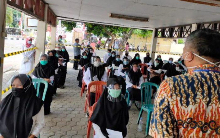 Seleksi SKB CPNS Barru di Kantor BKN Sulsel Terapkan Protokol Kesehatan
