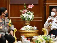 Kepala Kepolisian Daerah (Kapolda) Sulsel, Irjen Pol Merdisyam, bersilaturahmi ke Gubernur Sulsel, Prof HM Nurdin Abdullah