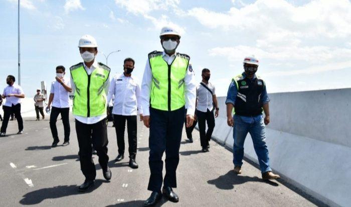 Gubernur Sulsel Tinjau Proyek Jalan Tol Layang Ujung Pandang