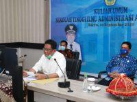 Bupati Barru bak Guru Besar saat Jelaskan Pemerintahan di Civitas Akademika Al Gazali