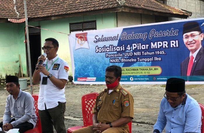 Sosialisasi empat pilar kebangsaan oleh Anggota MPR-RI dari DPD RI dapil Sulawesi Tengah, Abdul Rachman Thaha (ART).