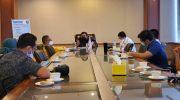 Wakil Ketua Umum DPP Golkar, H.A.M Nurdin Halid saat memimpin rapat terbatas bersama BSN di kantor DPP Golkar di Jakarta, Rabu (16/9/2020).