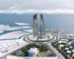 Desain Twin Tower yang rencana akan dibangun di kawasan CPI, Makassar.