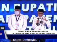 Debat kandidat pertama Pilkada Bulukumba di Hotel Gammara Makassar, Jumat (6/11/2020).