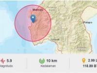 Gempa 5,9 SR Guncang Majene