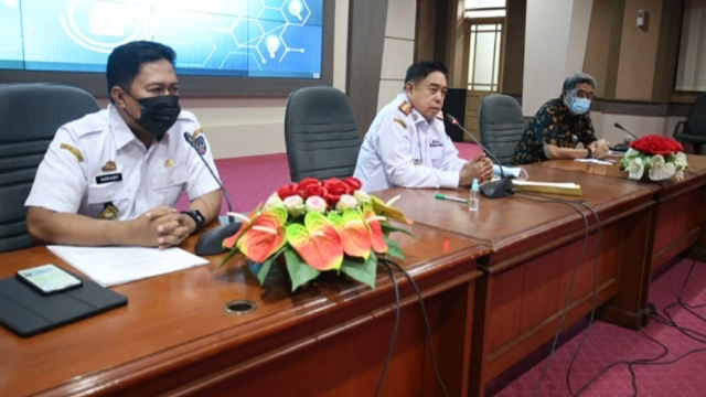 Sekretaris Daerah Abdul Hayat Gani Pimpin Rapat Tim Terpadu P4GN.