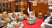 Bupati Sinjai Andi Seto Asapa (ASA) secara khusus menemui Gubernur Sulsel Nurdin Abdullah di Kantor Gubernur Sulsel, Selasa (23/2/2021).