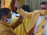 Ombas Terpilih Ketua DPD II Golkar Torut, Ini Pesan Taufan Pawe Untuk Kader
