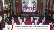 Gubernur Sulsel Prof Nurdin Abdullah secara resmi melantik dan mengambil sumpah jabatan 11 Kepala Daerah di Sulsel