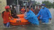 BPBD Gowa Evakuasi 16 Warga terdampak banjir.