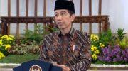 Presiden Jokowi menyampaikan sambutan pembukaan Kongres HMI ke-31 secara virtual.