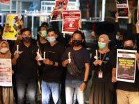 Jurnalis di Bontang Gelar Aksi Damai Bentuk Solidaritas untuk Nurhadi