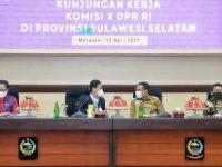 Plt Gubernur Sulsel Terima Rombongan Komisi X DPR RI