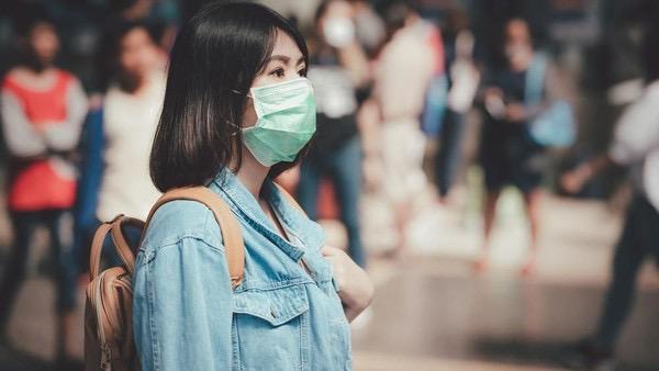 Foto ilustrasi pemakaian masker