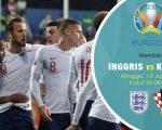 Piala Eropa Euro 2020 Inggris vs Kroasia. (Liputan6.com/Trie Yasni)