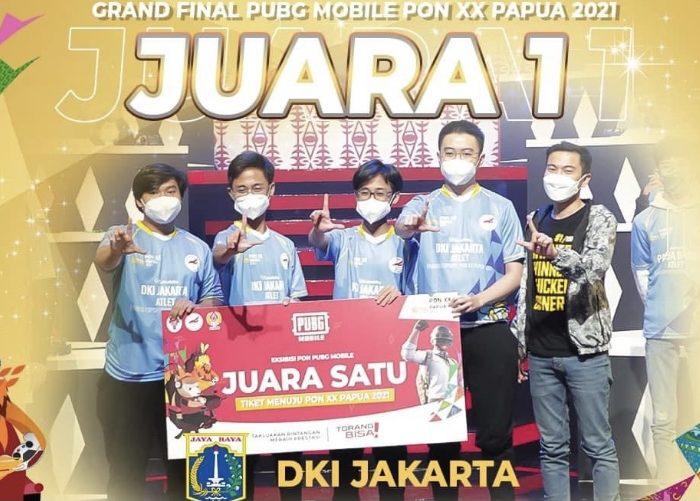 DKI Jakarta Raih Medali Emas PUBG Mobile PON XX Papua