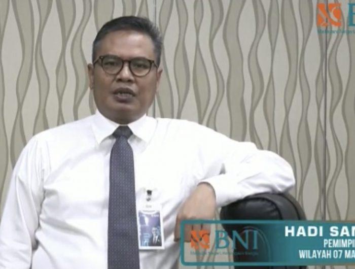 Pemimpin BNI Wilayah 07 Makassar, Hadi Santoso