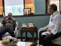 Wali Kota Parepare, HM Taufan Pawe saat menemui Menteri Investasi/BKPM, Bahlil Lahadalia