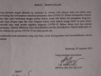 Surat Pernyataan Dokter di Enrekang Sulsel