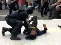 Viral Video Pendemo Dibanting Polisi Hingga Kejang-kejang