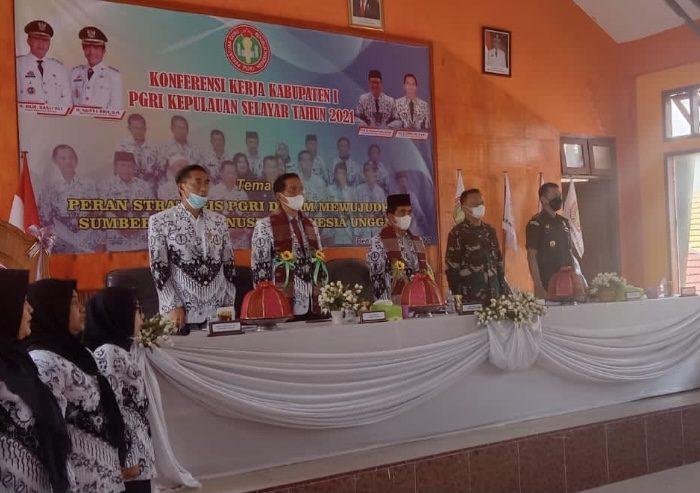 Saiful Arif Buka Konferensi Kerja PGRI Selayar