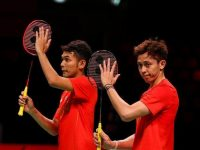 Ganda putra bulutangkis Indonesia, Fajar Alfian / Muhammad Rian Ardianto. (c) BWF-Limited